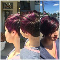 Fun colors by Francesca at SalonBlu @ Bella Luca Salon #Purple #fun #pretty #colorandcut