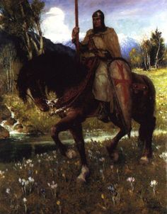 Parsifal in Quest of the Holy Grail by Ferdinand Leeke :: artmagick.com