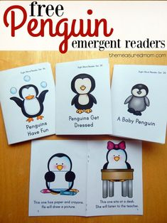 Free penguin emergent readers to add to winter unit.