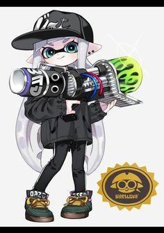 "まこ on Twitter: ""ネクロ… "" Splatoon 2 Game, Splatoon Squid, Splatoon Memes, Splatoon Comics, Character Art, Character Design, Wallpaper Iphone Cute, Fanart, Animal Crossing"