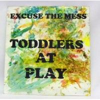 Feathermoon Design - Handmade Sign - Toddler Art - Excuse the Mess. Toddler Art, Wall Decor, Handmade, Design, Wall Hanging Decor, Hand Made, Craft, Wall Decorations
