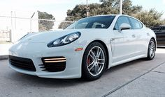 The Porsche Panamera is a five-door, four-seat affluence sports car with a auto contour and a rear h...