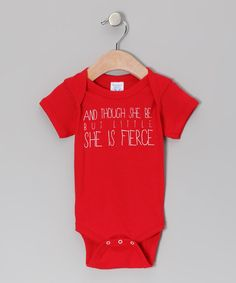 Take a look at this Red 'Little But Fierce' Bodysuit - Infant on zulily today!