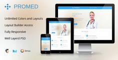 Promed-Health Marketing Responsive Email Template by mail1395 Promed is a clean ,responsive e-mail template. It work well with any kind of email service provider. Use It can be used by Doctors,Dentists,Hospitals,Clinics,Medical Labs & all other healthcare related departments:To market new pr
