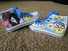 New Adventure Time Handpainted Converse Shoes Finn Jake Marceline LSP   eBay