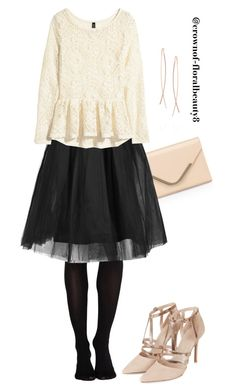 Christmas premiere by crownof-floralbeauty19 on Polyvore featuring polyvore, fashion, style, H&M, Rare London, Topshop, Accessorize, Diane Kordas and SPANX