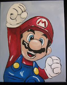 Just finished this of Mario. It would be perfect for any child's room or game room. Contact me if you are interested in this painting . Kids Canvas, Mini Canvas Art, Disney Drawings, Art Drawings, Canvas Art Projects, Super Mario Art, Family Painting, Cartoon Painting, Festival 2017