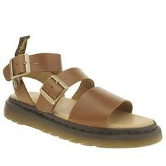 7ba055518 Dr Martens Tan Shore Gryphon Strap Womens Sandals No need to ditch your Dr  Martens when the temperature rises