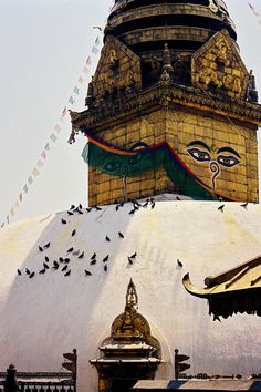 Swayambhunath Stupa in Kathmandu, Nepal. Architecture Antique, Religious Architecture, Merida, Himalaya, Place Of Worship, Travel Memories, Places To See, Around The Worlds, Adventure