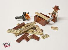 #WOODENBOARD #Sticker for #LEGO #tiles and #bricks on www.brick-pimp.com