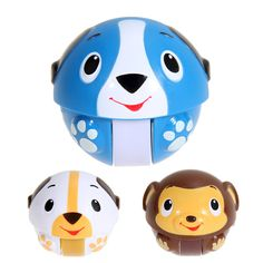 Children's Flash Colorful Ball Cartoon Tumbler Kids Funny Musical Toys Roly-Poly Nodding Doll High Quality