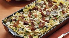 Ingredients  4 cups uncooked bow-tie (farfalle) pasta (8 oz) 1 box (9 oz) Green Giant® Simply Steam® frozen baby sweet peas 6 slices bacon
