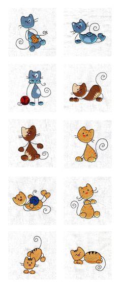 Stick Kitties Embroidery Machine Design Details