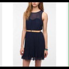 Urban Pins And Needles Chiffon-Top Pleated Dress