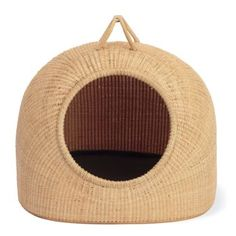 Nantucket Cat Basket - I'm sure Abby the Tabby would like this Basket Weaving, Hand Weaving, Cat Basket, Nantucket Baskets, Cat Playground, Design Within Reach, Made Goods, So Little Time, Wicker Baskets