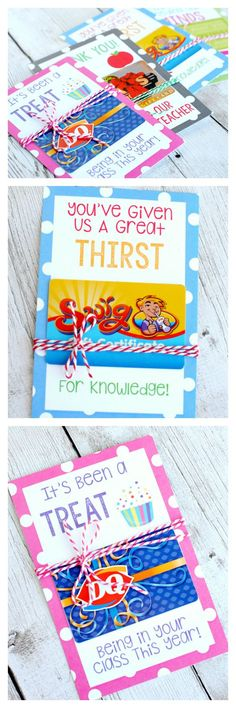 These printable teacher appreciation gift card holders are so simple and so cute!