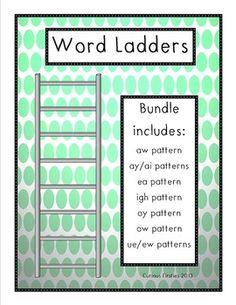 CVC Word Ladder Fun | Ladder, Word ladders and Words