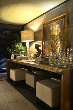 Unique Home Architecture — Foto: Eduardo Liotti charisma design Decor, House Design, Entryway Furniture, Living Room Designs, Interior, Home Decor, House Interior, Room Decor, Home Deco