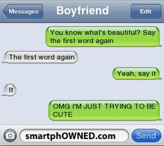 i would so be the one to screw up like this and ruin the cuteness by trying to finally be the smart one!!