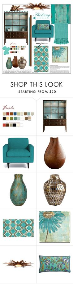 """""""Untitled #2848"""" by kellie-debrandt-mescher ❤ liked on Polyvore featuring interior, interiors, interior design, home, home decor, interior decorating, Somerset Bay, Fine Furniture Design, Pier 1 Imports and Chatham"""