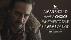 Lee Scoresby: A man should have a choice whether to take up arms or not. Lyric Drawings, His Dark Materials, Lin Manuel Miranda, Tv Show Quotes, Favorite Person, Hamilton, My Books, Northern Lights, Lyrics