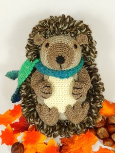 Hedley the Hedgehog Amigurumi Crochet Pattern. por mojimojidesign