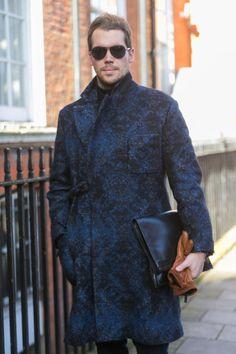 Street Style: Bold Blue Dries Van Noten Coat