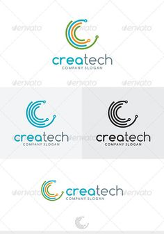 Buy Crea Tech Logo by Kapacyko on GraphicRiver. Fully Editable Logo, AI, EPS, CDR, PNG files Used free font link in the zip folder Easy work and good luck Don't forg. Ict Logo, Typo Logo, Typographic Logo, Logo Branding, Branding Design, Photographer Logo, Famous Logos, Round Logo, Logo Concept