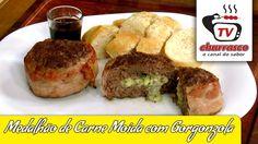 Receita de Medalhão de Carne Moída com Gorgonzola - Tv Churrasco