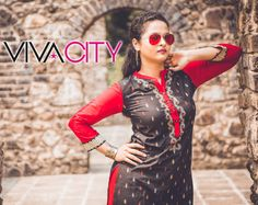 Bold and beautiful is the new trend. Our attire describes us in a million ways, so why not look the best?  #fashionishere #itsinfashion #trendingnow #ethnicviva To get more info about our ethnic kurti collection mail us at vcity001@gmail.com or DM