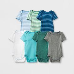 a37df1f19ca55d Baby Boys  7pk Bodysuits - Cloud Island Newborn
