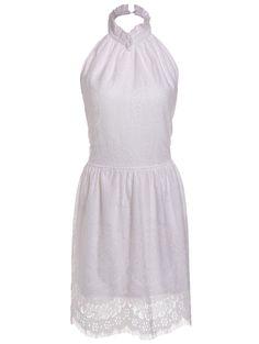 Stylish Halter Sleeveless Crochet Flower Backless Dress For Women #CLICK! #clothing, #shoes, #jewelry, #women, #men, #hats