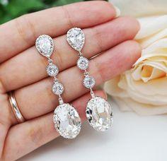 Nupcial colgantes aretes de Dama de honor por mysweetjewelry