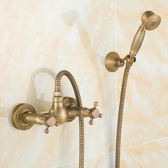 3pcs set faucet Copper shower set fashion quality copper shower bathroom sanitary ware alishoppbrasil