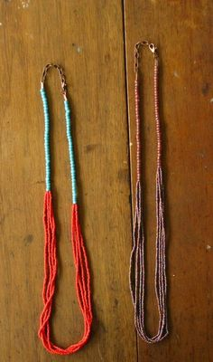 Extra Long Mulit-Colored and Multi-Stranded Beaded Necklace