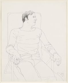 David Hockney (1937) Mo at Carennac (1970)