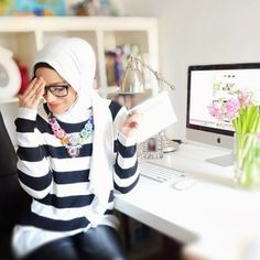 stripe love #hijab #hijabi #style #fashion