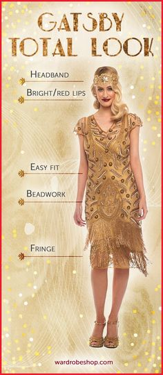 Great Gatsby Inspired Look from what to wear to gatsby themed party, source:pinterest.com