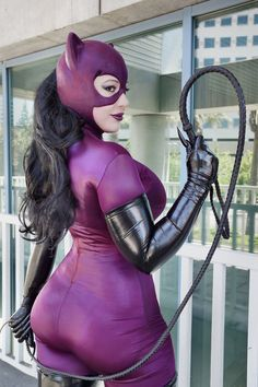 Catwoman by BelleChere. She is so beautiful. I love how curvy she is. This is exactly how I envision Catwoman should look like