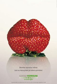 These ad posters were designed by the Swedish ad agency Lowe Brindfors for the food company COOP.