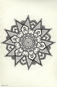 Geometric Mandala https://www.pinterest.com/src4u/mandala