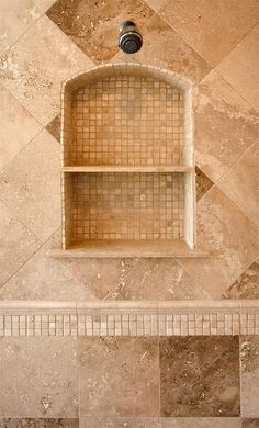 Nice inset niche with mosaic tile. Google Image Result for http://www.heartstonebuilders.com/images/CRW_8104rev1.jpg
