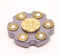 DUEBEL Revolver Fidget Spinner Ceramic Bearing Stainless Steel&Brass Gear Fidget Spinning Toy for EDC Collection Home Decoration