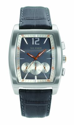 Ted Baker Men's TE1017 Sophistica-Ted Barrel Chronograph Leather Strap Watch