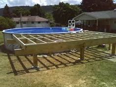 How to Build a Pool Deck   Pool deck plans, Deck plans and Ground ...