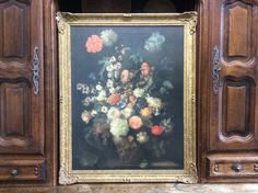 Vintage French Galerie Spitzer reproduction Still Life with Flowers by Franz Werner von Tamm painting framed circa 1920-30's Purchase in store here http://www.europeanvintageemporium.com/product/vintage-french-galerie-spitzer-reproduction-still-life-with-flowers-by-franz-werner-von-tamm-painting-framed-circa-1920-30s/