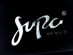 Supa Lettering Sketch by Gert van Duinen (cresk)  #sketch #lettering #typography #type #scripted #brush #logo #logotype #hand-lettering