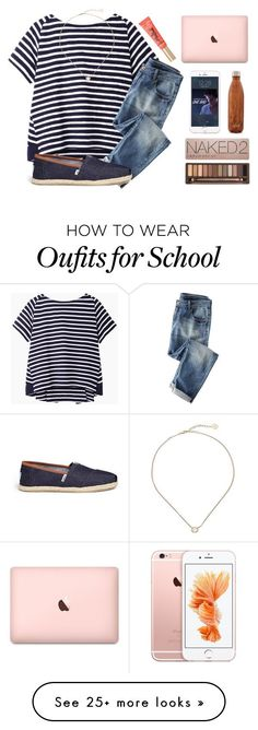 """""""No school today """" by kari-luvs-u-2 on Polyvore featuring Sacai Luck, Wrap, TOMS, Kendra Scott, S'well and Urban Decay"""