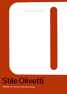 designed by Walter Ballmer for the Olivetti Exibition - 1961