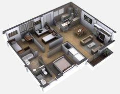 Amazing Floor Plans For You - Engineering Basic House Layout Plans, Small House Plans, House Layouts, Home Design Decor, Home Design Plans, House Design, Bedroom Floor Plans, House Floor Plans, Casas Containers